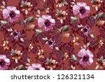 floral design background ... | Shutterstock . vector #126321134