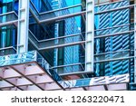 fragment of skyscrapers at one... | Shutterstock . vector #1263220471