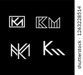 km initial lettermark logo... | Shutterstock .eps vector #1263228514