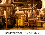 pipes and tubes and chimney at... | Shutterstock . vector #12632329