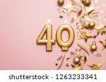 number 40 gold celebration... | Shutterstock . vector #1263233341