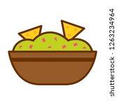 vector cartoon guacamole icon... | Shutterstock .eps vector #1263234964