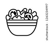 vector cartoon salad icon... | Shutterstock .eps vector #1263234997