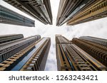 dramatic perspective with low... | Shutterstock . vector #1263243421