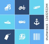 vehicle icon set and tank truck ... | Shutterstock .eps vector #1263252244