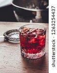 negroni make with gin  martini... | Shutterstock . vector #1263254437
