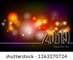 happy new year 2019 theme with... | Shutterstock .eps vector #1263270724