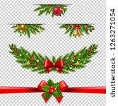 christmas garland big... | Shutterstock . vector #1263271054