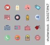 label icon set. vector set... | Shutterstock .eps vector #1263273967