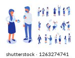 isomeric business people vector ... | Shutterstock .eps vector #1263274741