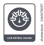 car petrol gauge icon vector on ... | Shutterstock .eps vector #1263278257