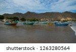 puerto lopez  manabi   ecuador  ... | Shutterstock . vector #1263280564