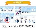 airport horizontal background.... | Shutterstock .eps vector #1263290254