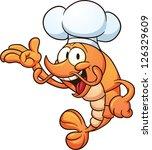 cartoon chef shrimp. vector...   Shutterstock .eps vector #126329609