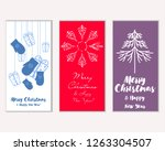 merry christmas and happy new... | Shutterstock .eps vector #1263304507
