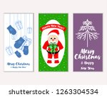 merry christmas and happy new... | Shutterstock .eps vector #1263304534