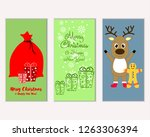 vector illustration of winter... | Shutterstock .eps vector #1263306394