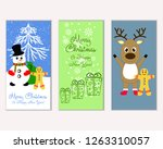 merry christmas and happy new... | Shutterstock .eps vector #1263310057