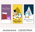 merry christmas and happy new... | Shutterstock .eps vector #1263319564