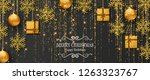 merry christmas background with ... | Shutterstock .eps vector #1263323767