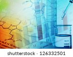 chemistry science formula and... | Shutterstock . vector #126332501