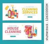 set design banner house... | Shutterstock .eps vector #1263330034