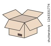 open cardboard box isolated... | Shutterstock .eps vector #1263331774