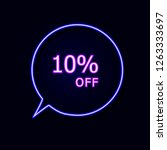 vector neon talk bubble with 10 ... | Shutterstock .eps vector #1263333697