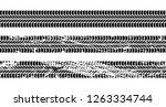 set of seamless car tire tracks ... | Shutterstock .eps vector #1263334744