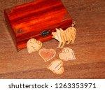 handmade mahogany jewelry box | Shutterstock . vector #1263353971