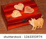 handmade mahogany jewelry box | Shutterstock . vector #1263353974