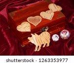 handmade mahogany jewelry box | Shutterstock . vector #1263353977