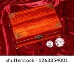 handmade mahogany jewelry box | Shutterstock . vector #1263354001