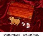 handmade mahogany jewelry box | Shutterstock . vector #1263354007