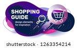 vector creative template design ... | Shutterstock .eps vector #1263354214
