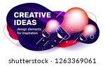 vector creative business... | Shutterstock .eps vector #1263369061