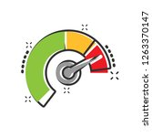 meter dashboard icon in comic... | Shutterstock .eps vector #1263370147