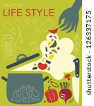 healthy life style card. vector ... | Shutterstock .eps vector #126337175