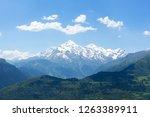 mountains landscape. summer day ... | Shutterstock . vector #1263389911