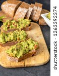 fresh bread with mexican... | Shutterstock . vector #1263392374