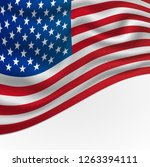 america or usa flag background... | Shutterstock . vector #1263394111