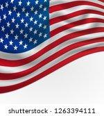 america or usa flag background... | Shutterstock . vector #1263394111