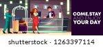 vector cartoon background of...   Shutterstock .eps vector #1263397114