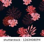 beautiful seamless vector... | Shutterstock .eps vector #1263408094