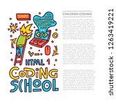 codign school. code concept.... | Shutterstock .eps vector #1263419221