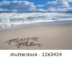 Beach Ocean Sky Background Wit...