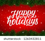 happy holidays calligraphy text ... | Shutterstock .eps vector #1263432811