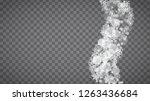 winter frame with white... | Shutterstock .eps vector #1263436684