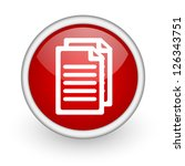 document red circle web icon on ... | Shutterstock . vector #126343751