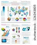 infographic elements   set of... | Shutterstock . vector #126343805